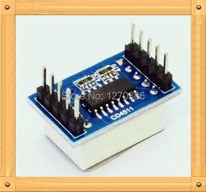 Бесплатная доставка! 5 шт. CD4511 модуль цифрового дисплея/хлебная Доска электронное производство/BCD-защелка/7-сегментный декодер/драйвер