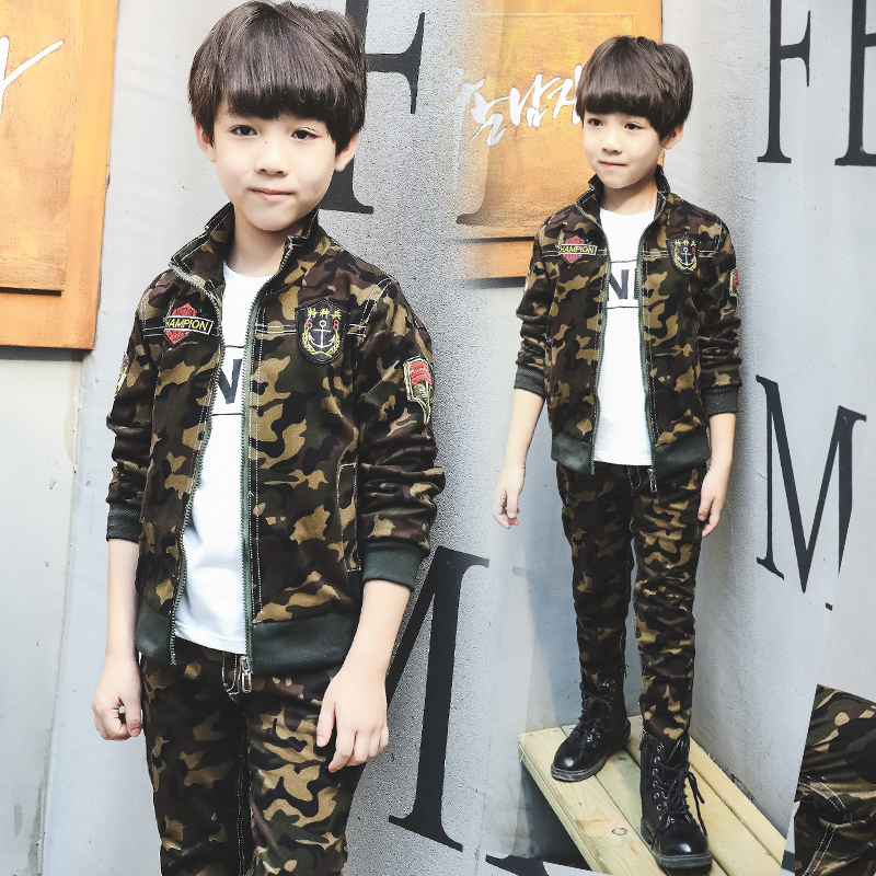 Spring Clothing Set for Boys Camouflage Kids Jacket + Trousers Casual 2 Pcs Boys Clothing Sets Fashion Kids Outfit Clothes Suit 30 new styles festival gifts top trousers lifestyle suit casual clothes trousers for barbie doll 1 6 bbi00636