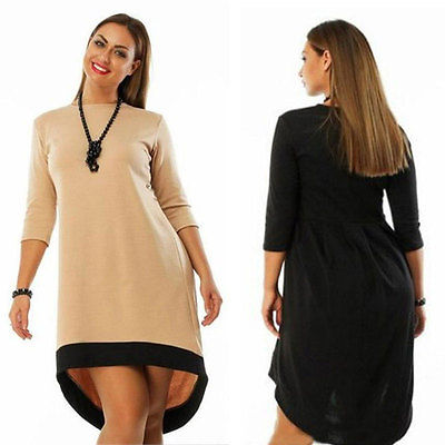 2016 Fashion Sexy Women Plus Size Dresses Simple Elegant Casual