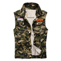 Slim new Korean men's fashion men's vest denim vest  men's comfortable casual camouflage vest size:M-4XL  65