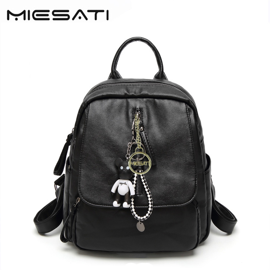 MIESATI leather laptop kawaii backpack women mochila mujer notebook backpacks bagpack back pack school bag travel women-bag
