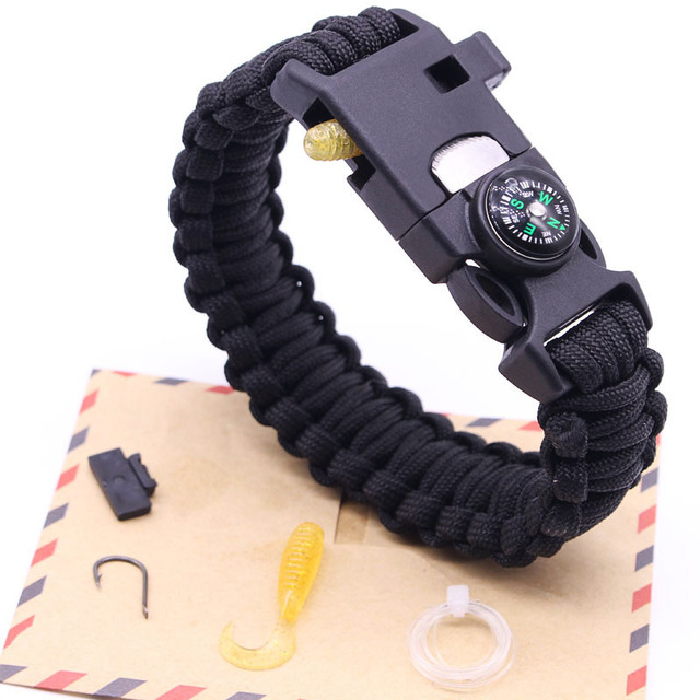 Men Braided Women Bracelet Multi Function Paracord Survival Outdoor Camping Rescue Emergency Rope Bracelets