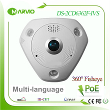 6MP  3072 x 2048 multi-language 360 degree panoramic view fisheye IP Network Camera DS-2CD6362F-IVS  Vadalproof IP67 Outdoor