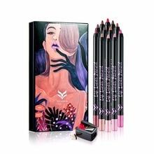 Professional 12pcs/set Lip Liner Pencil set Long Lasting 12 Colors Lipliner pen makeup Waterproof Cosmetic lip makeup Tools