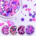 1 Box Shiny Colorful Nail Sequins Round Shape Nail Glitter Paillette Tips Manicure DIY Nail Art Decoration 35 Colors
