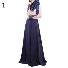 Women Abaya Koran Muslim Kaftan Hijab Burqa Lace Long Sleeve Islamic Maxi Dress