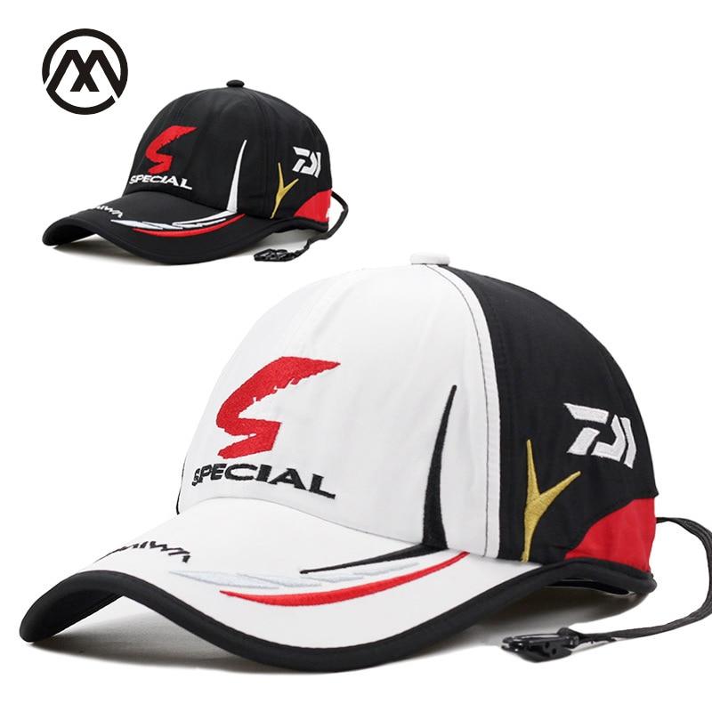 Real brand Daiwa   cap   Adult Men Adjustable fishing   cap   Daiwa Hat Japanese Japan Sunshade Sport   Baseball   wholesale Hat   Cap