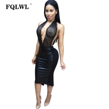 27f14b110bd16 Buy sexy cleavage halter neck dresses and get free shipping on ...