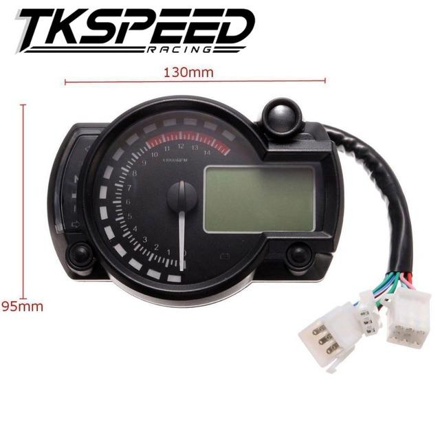 Motocicleta Moderna Digital Medidor de Luz Digital LCD Velocímetro Tacómetro