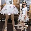 Girls Skirts Children Pleated Tutu Skirt Girl Flower Butterfly Skirt Pattern Princess Design Elastic Waistband Ball Gown Skirt