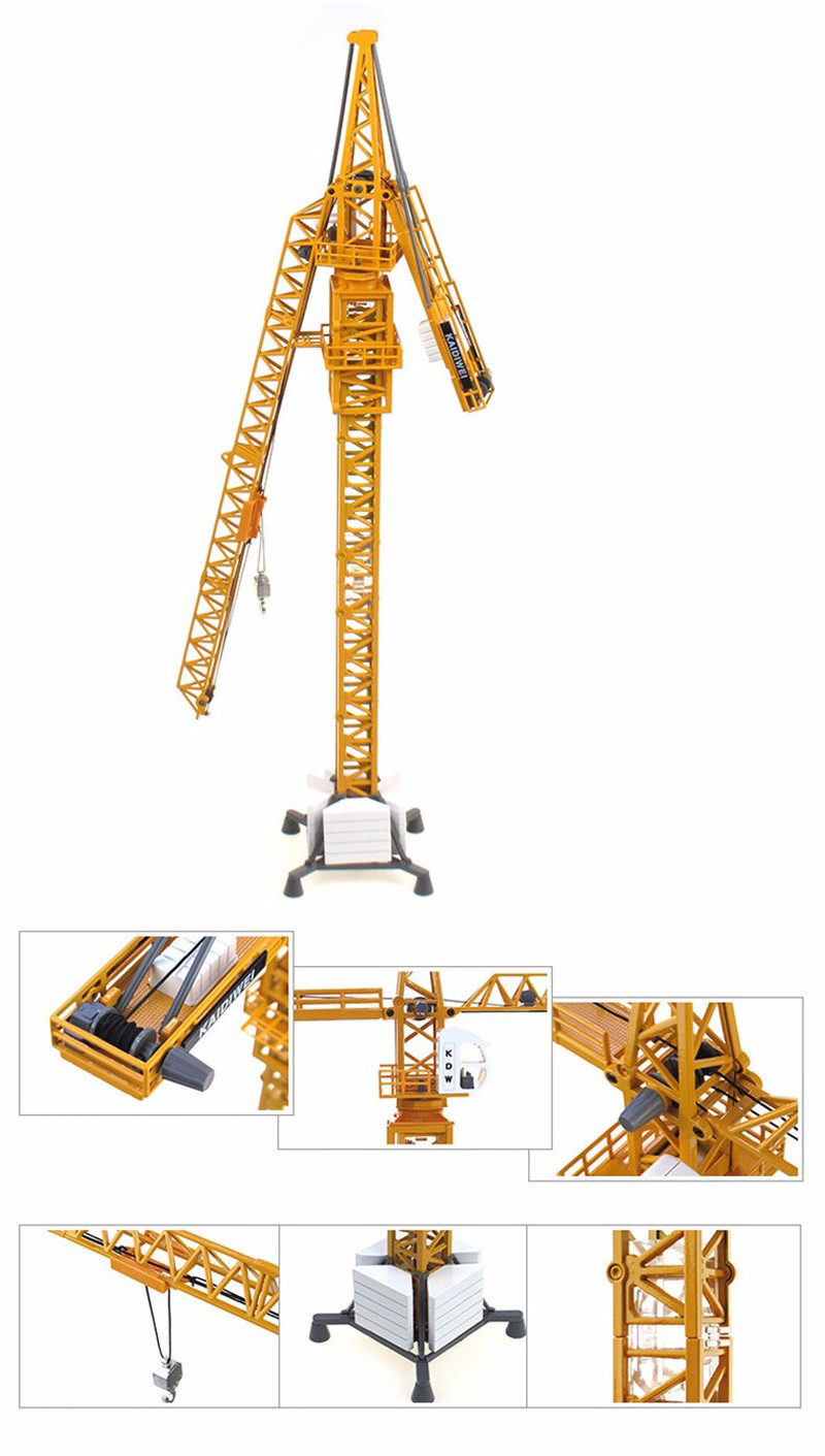 Kids toys Collection Diecast 1/50 Diecast Tower Slewing Crane Construction Truck Car model Toys Diecast Model gift for Child