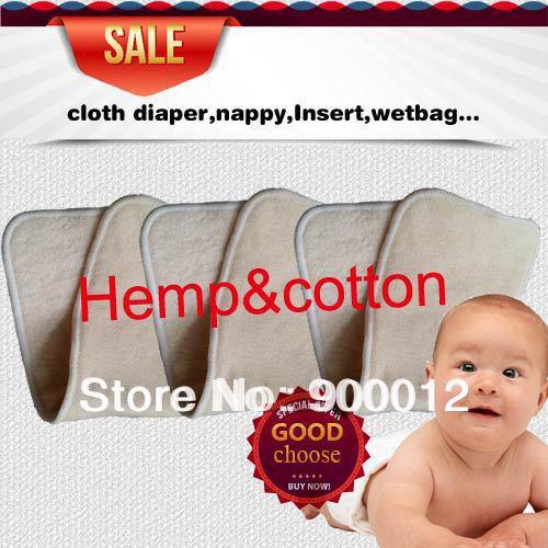 Free Shipping Naughty Baby Hemp Organic cotton 100pcs 4 Layers 2 2 Washable Reusable Baby Cloth