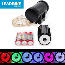 Leadbike Bicycle Accessories Waterproof 20 Led AA Battery Colorful Safety Wheel Light Bike Spoke Light Lamp For Night Riding