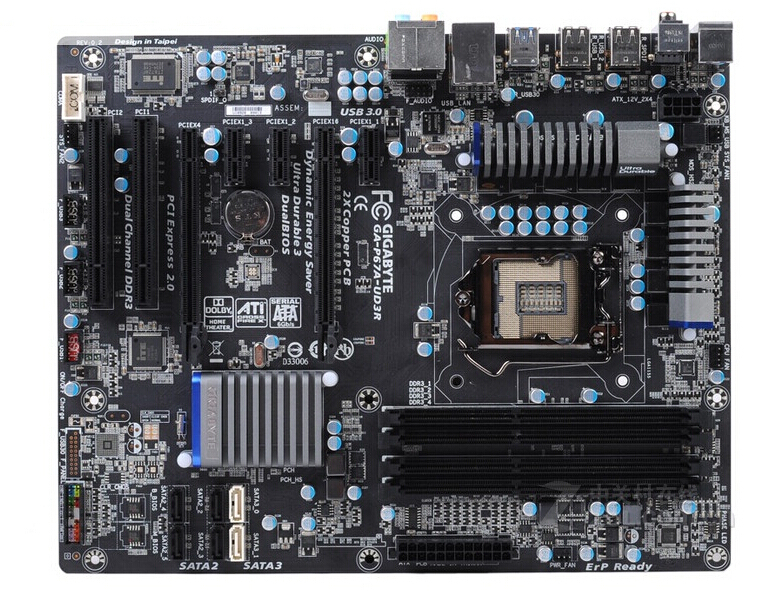 original motherboard for Gigabyte GA-P67A-UD3R LGA 1155 DDR3 P67A-UD3R 32GB USB3.0 P67 Desktop motherboard Free shipping