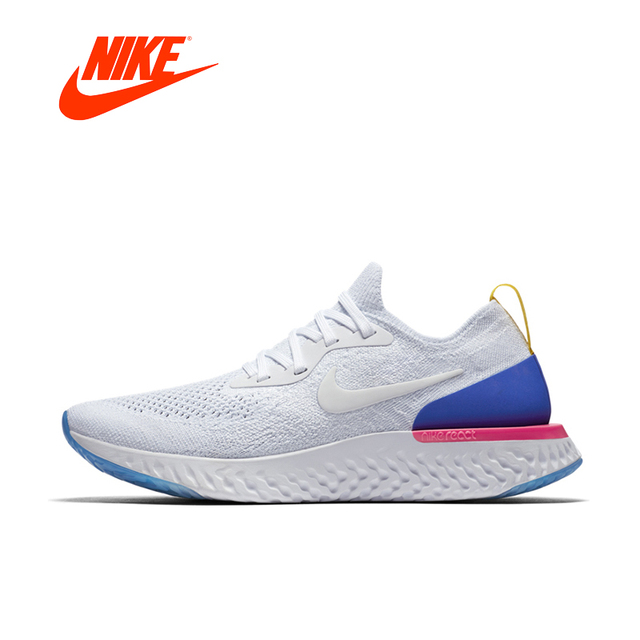 4db9ca0458f5a7 Nike Epic React Flyknit Original New Arrival Authentic Mens Womens Running  Shoes Sneakers Comfortable Breathable Sport Outdoor