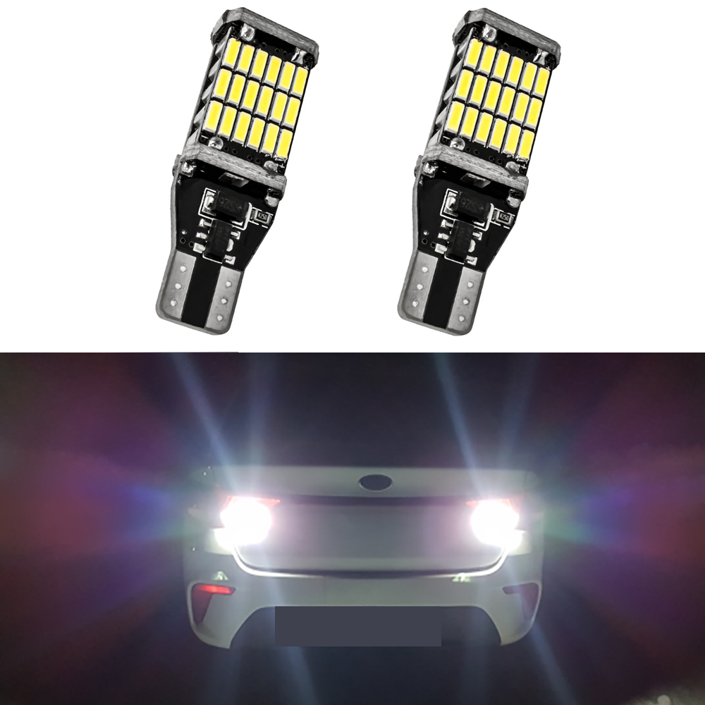 2x 921 T15 W16W LED Canbus Bulb Car Backup Reverse Light For <font><b>Ford</b></font> Focus 2 MK2 MK3 Fiesta Mondeo MK4 S Max Fusion Ranger <font><b>Mustang</b></font> image