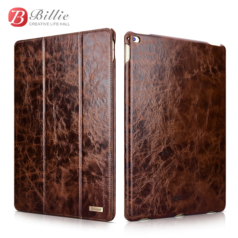 For apple ipad pro 9.7 inch leather Cover Oil Wax Vintage Genuine Leather Protective Folio Case for ipad pro Stand Mount Holder браслеты bradex браслет глаз тигра
