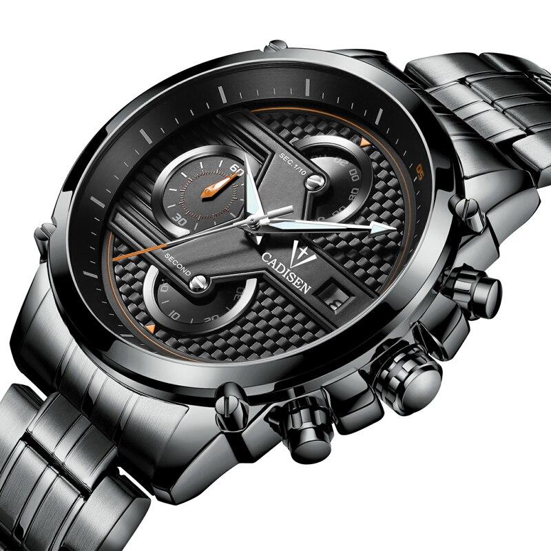 Reloj Hombre Fashion Wristwatch CADISEN Design Military Quartz Watch Men Luxury Brand Sport Watch montre homme Relogio Masculino от Aliexpress INT