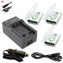 3PCS NPBX1 NP BX1 np-bx1 Battery Pack + EU Cable Car Charger for Sony DSC RX1 RX100 AS100V M3 M2 HX300 HX400 HX50 HX60 GWP88