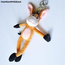 HANDANWEIRAN 1PCS New Long Legs Donkey Plush Toy Creative Fun Small Stuffed Children Toys Doll Backpack Key Chain Pendant 20CM