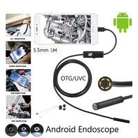 5 шт./лот 5,5 мм USB андроид эндоскоп Камера 5 м гибкая змея USB инспекции бороскоп смартфон Камера