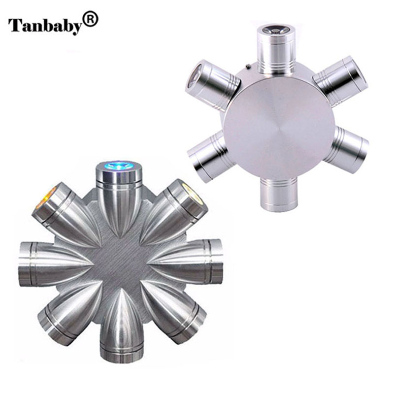 Tanbaby 8W led wall light luminaire Aluminum modern wall sconce AC 85-265V indoor home decoration lights fixtures apliques pared rouda best 36w 36 led wall light die casting aluminum modern cuboid wall lamp outdoor decoration home lighting ac 85 265v