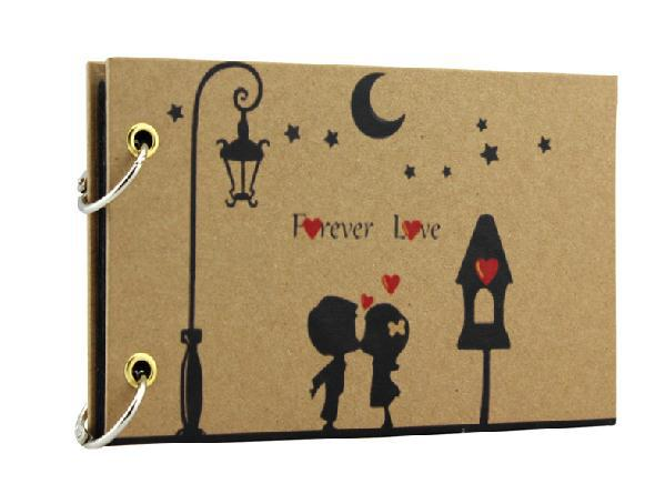 Assez 5'' Mini Cute Romantic Couples Black Sheet DIY Handmade Love Theme  JT68
