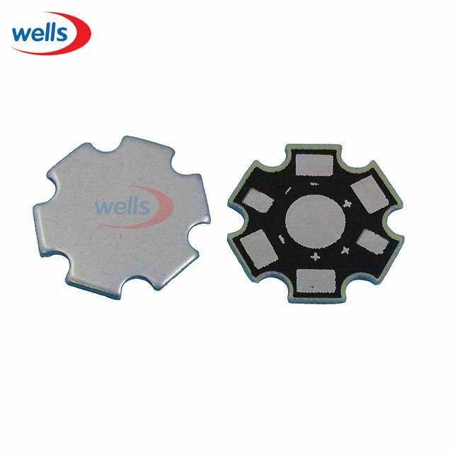 Новый 1 Вт 3 Вт 5 светодио дный светодиодный алюминиевый радиатор база пластина радиатор звезда RGBW RGB печатная плата DIY для 1 3 Вт 5 Вт Высокая мощность 20 мм светодио дный светодиодный чип
