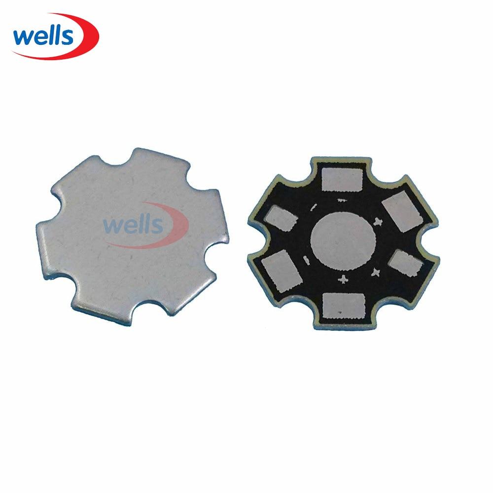 New 1W 3W 5W  LED Aluminum Heatsink Base Plate  Heat Sink Star  RGBW RGB PCB Board DIY for 1 3 5 W Watt High Power 20mm LED Chip интегральная микросхема stime 100pcs lot 3w 1w 5w led heat sink