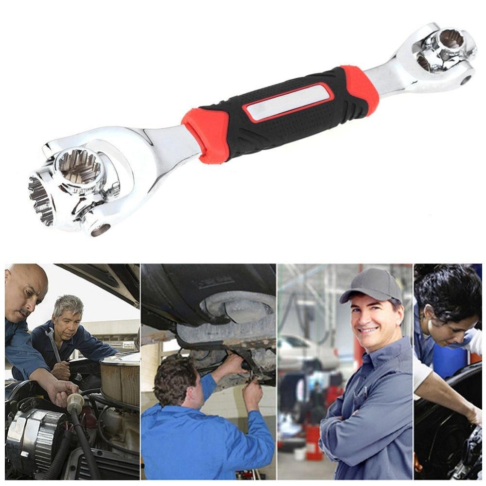 Car Multipurpose Bolt Wrench Degree Rotation Adjustable Spanner Socket Hand Tool