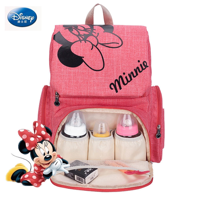 Disney New 2019 Mickey Minnie Mouse Baby backpack Bags Maternal Stroller Bag Nappy Backpack Maternity Insulation