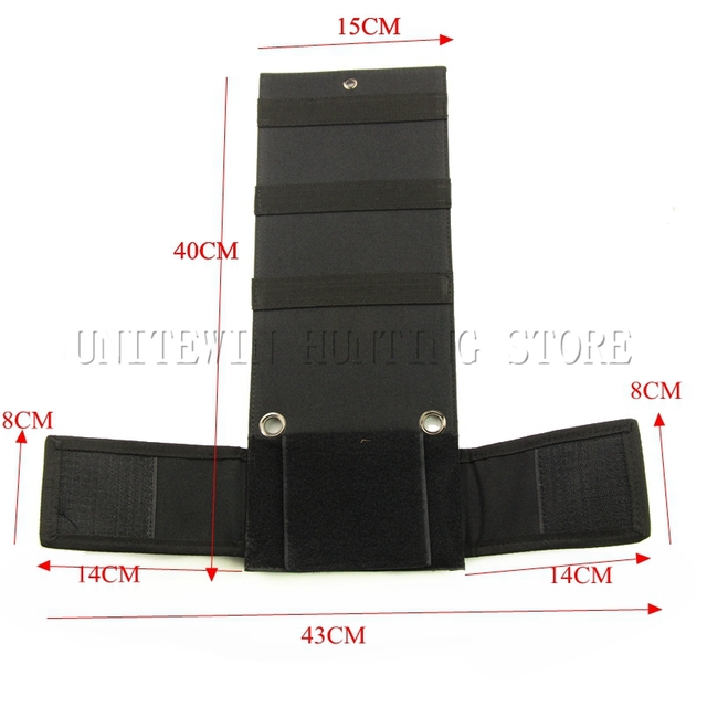 adjustable nylon tactical concealed under car seat gun holster wall