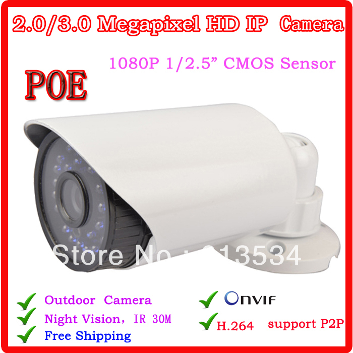 Security CCTV CCTV IR Day&Night Waterproof  Camera 2MP 1080 P HD Ip Camera With POE  Hot Sale wistino cctv camera metal housing outdoor use waterproof bullet casing for ip camera hot sale white color cover case