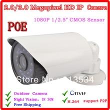Security CCTV CCTV IR Day&Night Waterproof  Camera 2MP 1080 P HD Ip Camera With POE  Hot Sale
