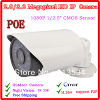 Security CCTV CCTV IR Day Night Waterproof Camera 2MP 1080 P HD Ip Camera With POE