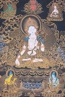 Tibet Tibetan Buddhism Tibetan Thangka painting painting exquisite hand painted statues White Tara Tibetan framed print