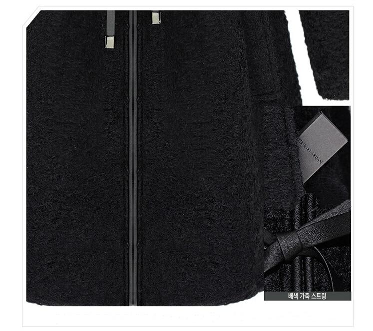 Laine long Moyen Fourrure Capuchon Automne Chaud Veste Fashion Faux Femmes hiver À Black Veste Longlasting Coton En Rembourré Style Bordée Xg8qYR