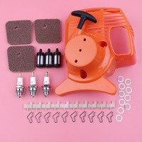 Recoil Starter Air Fuel Filter Pawl Dog Spring Washer Spark Plug Kit For Stihl FS38 FS45 FS46 FS55 FC55 HL45 KM55 Trimmer Parts