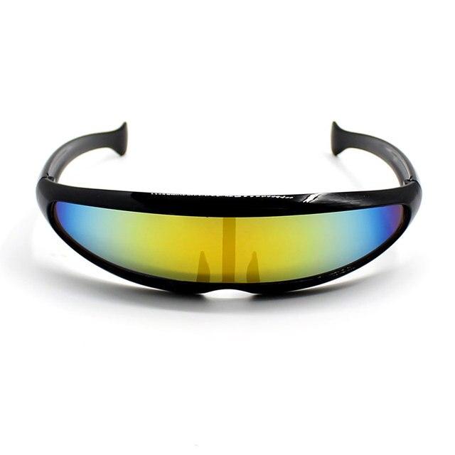 0ad11f9902 Deal With It Sun Glasses One Piece Sunglasses Men Women Black Bar Silver  Goggle For Fashion Party Oculos de Sol Feminino 10pcs