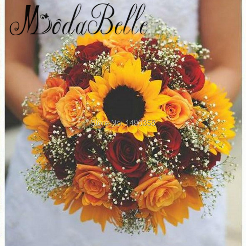 Average Cost Of Wedding Flowers 2014: ModaBelle Red Rose Bridal Bouquets Styles 2017 Artificial