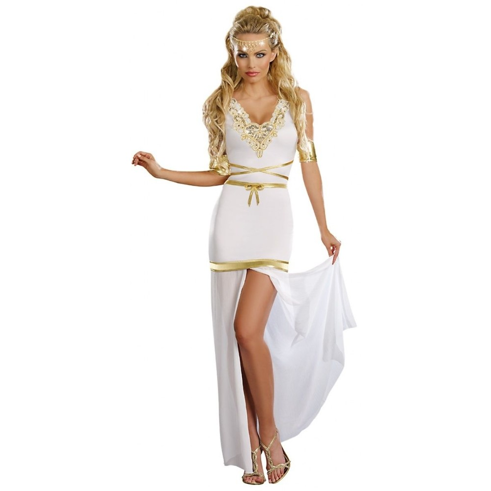 2017 Greek Goddess Of Love Costume Adult Aphrodite Halloween Fancy Dress Elegant Fashion Cosplay Queen Role Play A542863