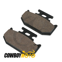 Motorcycle Semi Metal Sintered Rear Brake Pads For KAWASAKI KX125 KDX 125 200 KX250 1989 1994