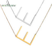 Nextvance Letter E Necklaces Women Clavicle Choker Initial Necklace Stainless Steel Pendants Kolye Collier