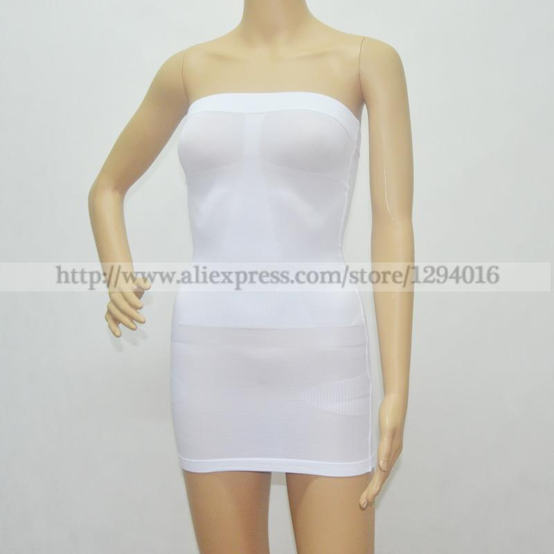 fd268441b371d 100pcs Women Seamless Slimming Tube Body Control Shaper Dress Slip Boob  Tubes Plus Size-in Bodysuits from Underwear   Sleepwears on Aliexpress.com