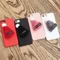 Natal bonito chapéu de lã cor sólida suave phone case para iphone 6 6 s 6 plus 6 splus 7 7 plus