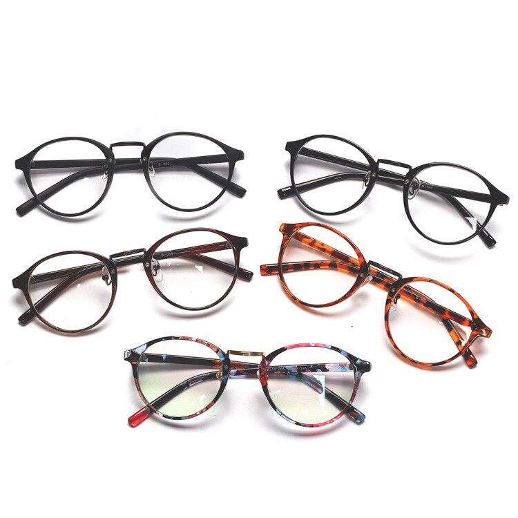 Fake Glasses Retro Metal Frame Eyeglasses Oversized Clear Lens Glasses Men Women Transparent Optical Cat Eye Glasses Frames