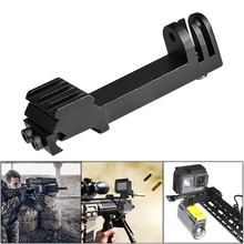 купить Action Camera Gun Mount 2IN1 Picatinny Rail Mount Adapter Hunting Rifle Kit Airsoft Gun Rail Mount For Gopro SONY Sports Camera дешево