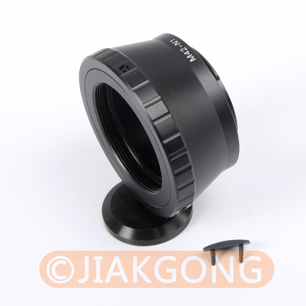 Lens Adapter Ring For M42 Lens and NIKON 1 Mount Adapter with Tripod 1/4 Mount V1 J1 s8068 nikon lens adapter m42 threaded astronomical ccd interface