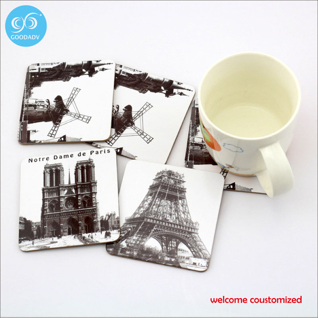 30pcs Cup Coasters Drinks Custom Square Coaster 95mm
