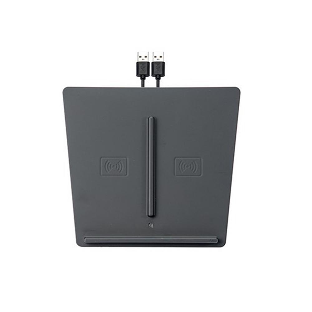 Port USB Console centrale chargeur sans fil intérieur amélioré rapide avant accessoire voiture montage double téléphones charge pour Tesla modèle 3
